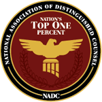 Logo Recognizing The Law Offices of Paul H. Nathan's affiliation with National Association of Distinguished Counsel, Top 1%