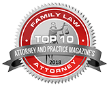 Logo Recognizing The Law Offices of Paul H. Nathan's affiliation with Attorney and Practice Magazine's Top 10 Family Law Attorneys
