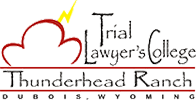 Logo Recognizing The Law Offices of Paul H. Nathan's affiliation with Trial Lawyer's College, Thunderhead Ranch